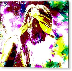 Maria Sharapova Paint Splatter 4c Acrylic Print by Brian Reaves