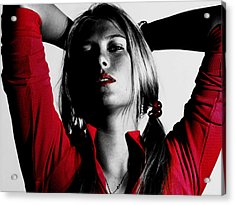 Maria Sharapova Red Hot Acrylic Print by Brian Reaves