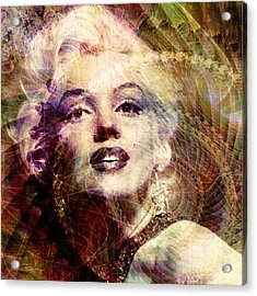 Marilyn Acrylic Print by Barbara Berney