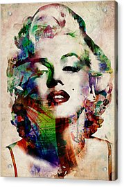 Marilyn Acrylic Print by Michael Tompsett