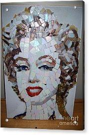 Marilyn Acrylic Print by Mitch Brookman