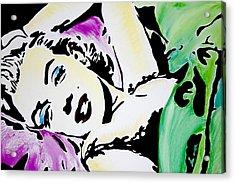 Marilyn Monroe Acrylic Print by Brittany Prichard