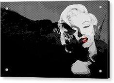 Marilyn Monroe Hollywood Star Acrylic Print by Brad Scott
