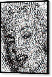 Marilyn Monroe Mosaic Acrylic Print by Paul Van Scott