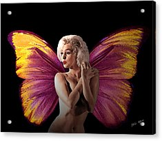 Marilyn Monroe The Fairy Acrylic Print by Tray Mead