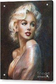 Marilyn Ww Soft Acrylic Print by Theo Danella