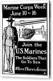 Marine Corps Week - Ww1  Acrylic Print by War Is Hell Store