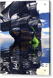Mariner's Nightmare Acrylic Print by Claude McCoy