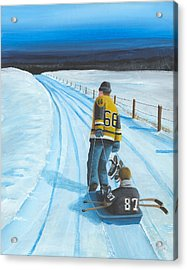 Mario And The Kid Acrylic Print by Ron  Genest