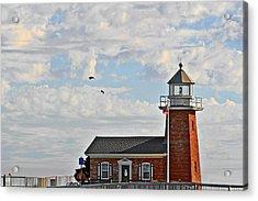 Mark Abbott Memorial Lighthouse  - Home Of The Santa Cruz Surfing Museum Ca Usa Acrylic Print by Christine Till