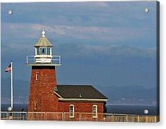 Mark Abbott Memorial Lighthouse California - The World's Oldest Surfing Museum Acrylic Print by Christine Till