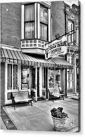 Mark Twain's Town 2 Bw Acrylic Print by Mel Steinhauer