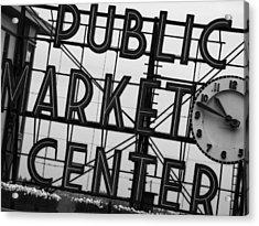 Market Acrylic Print by John Gusky