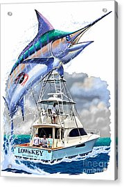 Marlin Commission  Acrylic Print by Carey Chen