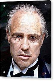 Marlon Brando Acrylic Print by James Shepherd