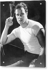 Marlon Brando, Portrait From A Acrylic Print by Everett