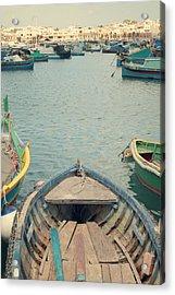 Marsaxlokk - Malta Acrylic Print by Cambion Art