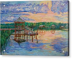Marsh View At Pawleys Island Acrylic Print by Kendall Kessler