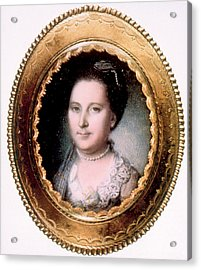 Martha Washington 1731-1802, First Lady Acrylic Print by Everett