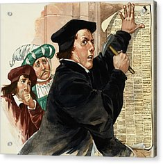 Martin Luther Acrylic Print by Angus McBride