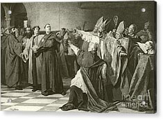 Martin Luther Before The Council Of Worms  Acrylic Print by English School