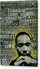 Martin Luther King Acrylic Print by Tai Taeoalii