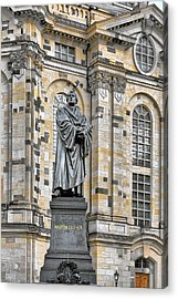Martin Luther Monument Dresden Acrylic Print by Christine Till