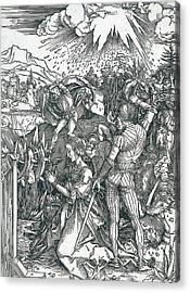 Martyrdom Of Saint Catherine Acrylic Print by Albrecht Durer