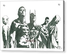 Marvel Heros Acrylic Print by Akshatha Suryanarayana