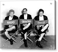 Marx Brothers - Harpo Marx, Groucho Acrylic Print by Everett