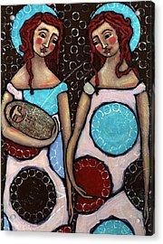 Mary And Elizabeth Acrylic Print by Julie-ann Bowden