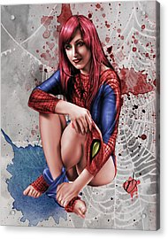 Mary Jane Parker Acrylic Print by Pete Tapang