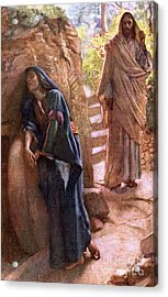 Mary Magdalene At The Sepulchre Acrylic Print by Harold Copping