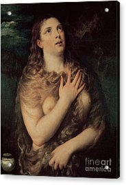 Mary Magdalene Acrylic Print by Titian