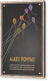 Mary Poppins Acrylic Print by Megan Romo