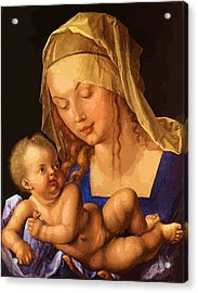 Mary Saint Acrylic Print by Christian Art