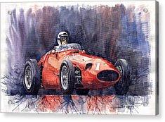 Maserati 250f Acrylic Print by Yuriy  Shevchuk