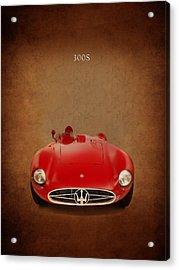 Maserati 300 S Acrylic Print by Mark Rogan