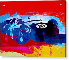 Maserati On The Race Track 1 Acrylic Print by Naxart Studio