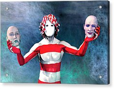 Masks Acrylic Print by Carol and Mike Werner