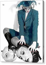Masquerading Selves - Self Portrait Acrylic Print by Jaeda DeWalt