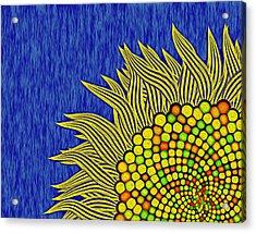 Math Sunflower1 Acrylic Print by GuoJun Pan