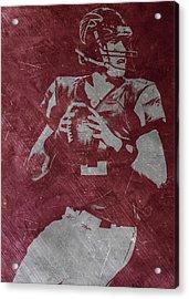 Matt Ryan Atlanta Falcons Acrylic Print by Joe Hamilton