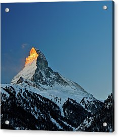 Matterhorn Switzerland Sunrise Acrylic Print by Maria Swärd
