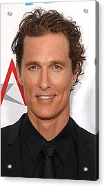 Matthew Mcconaughey At Arrivals Acrylic Print by Everett