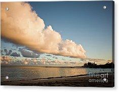 Maui Hawaii Sunset Stunning Clouds Acrylic Print by Denis Dore