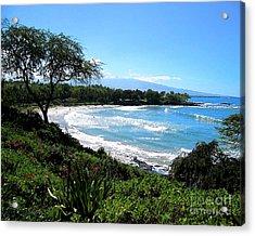 Mauna Kea Beach Acrylic Print by Bette Phelan