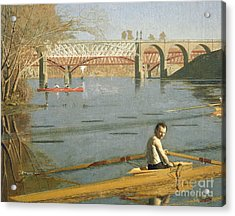 Max Schmitt In A Single Scull Acrylic Print by Thomas Eakins