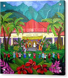 May Day At Hanalei Acrylic Print by Jerri Grindle