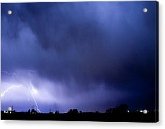 May Showers 3 In Color - Lightning Thunderstorm 5-10-2011 Boulde Acrylic Print by James BO  Insogna
